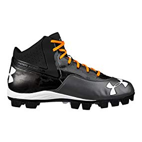 Under Armour Men's UA Ignite Mid RM CC Baseball Cleats, Black