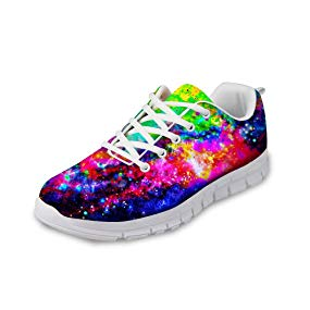 Bigcardesigns Mens Womens Fashion Galaxy Space Running Shoes Sneakers Lace Up