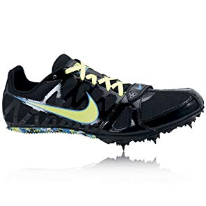 NIKE Men's Zoom Rival S 6 Track Field Spikes, Black/Yellow/Blue