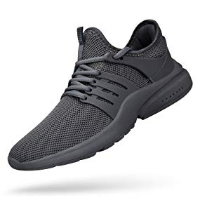 QANSI Mens Sneakers Mesh Breathable Lightweight Sports Running Shoes Fashion Gym Summer