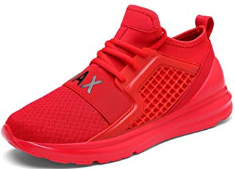Weweya Men's Road Running Shoes Athletic Training Shoes Casual Walking Sneakers